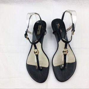 Michael Kors sandals 9.5 black gold
